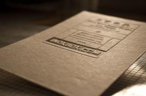 Débossage, impression en letterpress à Clermont Ferrand